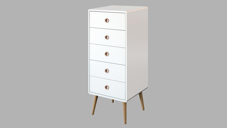 kommode soft line mdf wei eiche massiv 5 schubk sten. Black Bedroom Furniture Sets. Home Design Ideas
