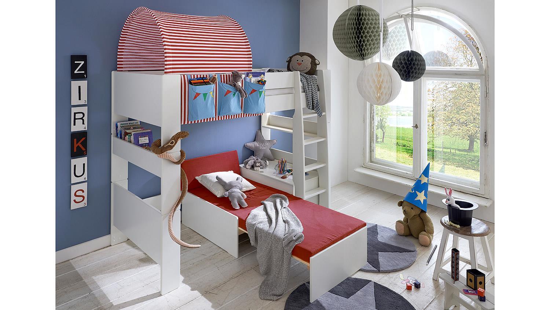 hochbett steens for kids wei mdf zirkus m g stebett. Black Bedroom Furniture Sets. Home Design Ideas