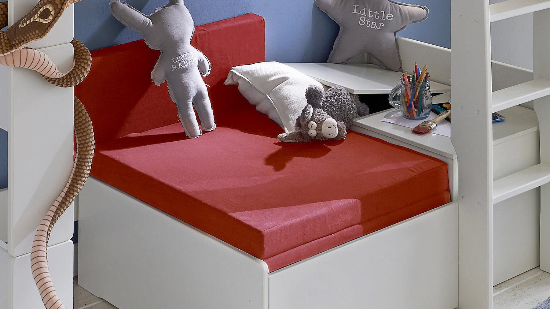 Steens Etagenbett Aufbauanleitung : Hochbett steens for kids weiß mdf zirkus m gästebett
