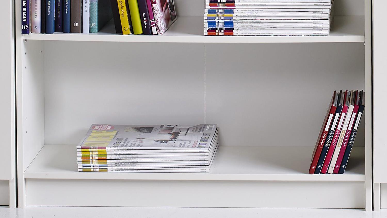 Bücherregal Niedrig bücherregal in weiß niedrig 80cm breit