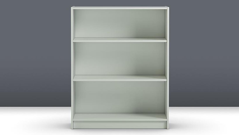 Regal Anette Bücherregal In Weiß Niedrig 80cm Breit
