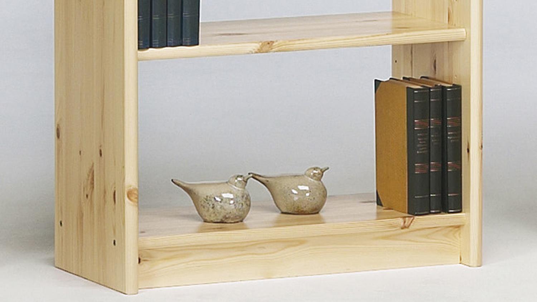 regal axel in kiefer massiv natur lackiert b cherregal 64x170cm. Black Bedroom Furniture Sets. Home Design Ideas