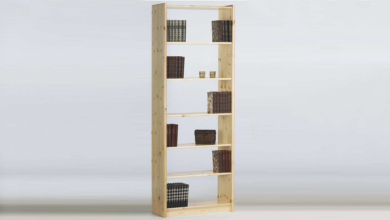 regal axel 64x205cm b cherregal in kiefer massiv natur lackiert. Black Bedroom Furniture Sets. Home Design Ideas