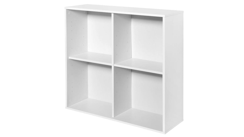 h ngeregal boxy mit t ren wandregal in wei dekor 25cm tief. Black Bedroom Furniture Sets. Home Design Ideas