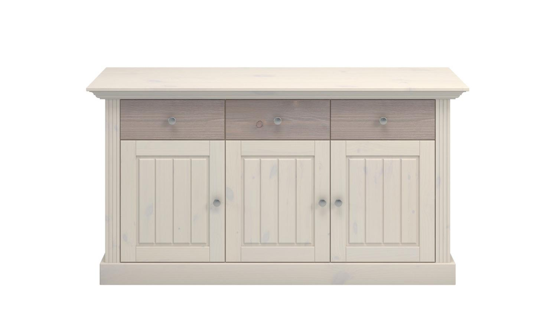 sideboard monaco in kiefer massiv white wash und tr ffel. Black Bedroom Furniture Sets. Home Design Ideas