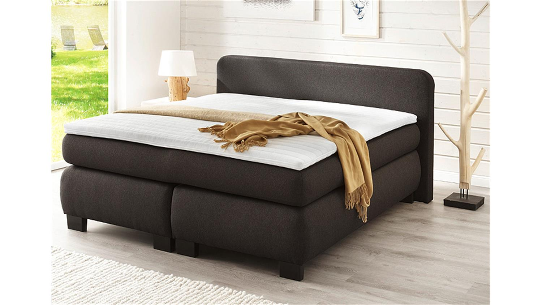 boxspringbett bx 300 schlafzimmerbett in anthrazit 180x200. Black Bedroom Furniture Sets. Home Design Ideas