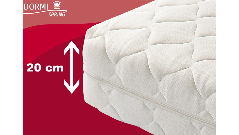 taschenfederkern dormispring matratze 7 zonen t100 140x200. Black Bedroom Furniture Sets. Home Design Ideas