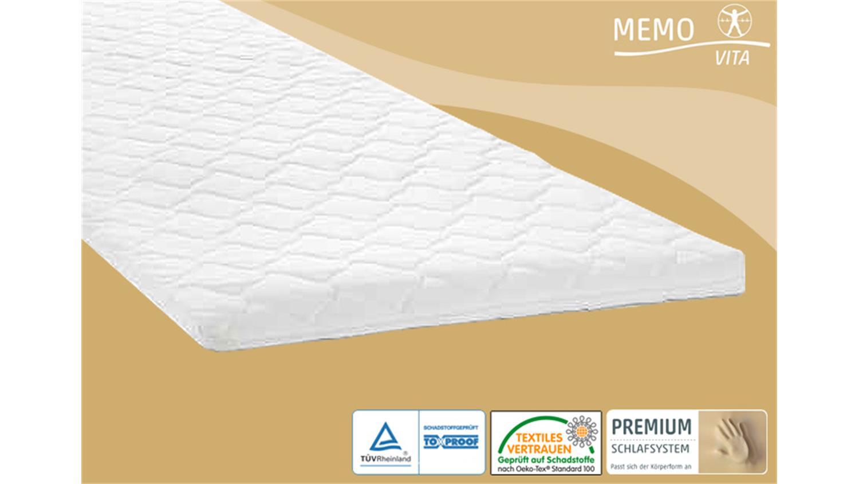 matratzenauflage memovita v120 viskoelastikschaum topper 180x200. Black Bedroom Furniture Sets. Home Design Ideas
