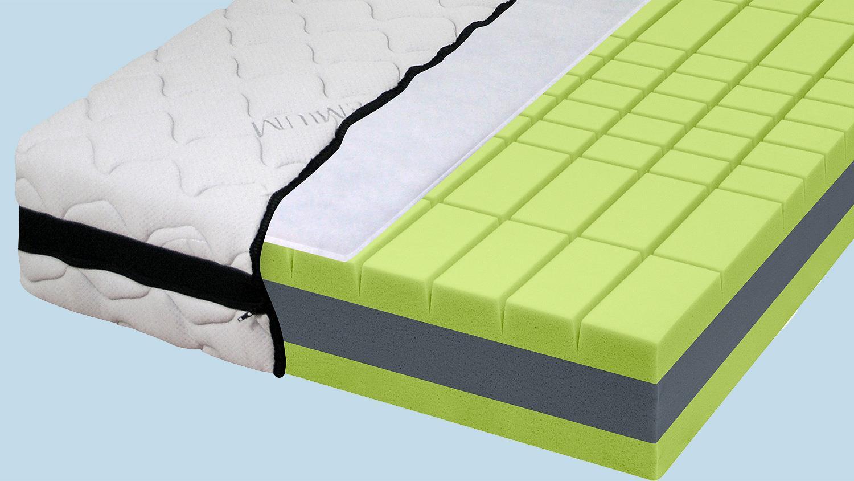 7 zonen kaltschaum matratze dormipur k600 xxl geeignet 90x200. Black Bedroom Furniture Sets. Home Design Ideas