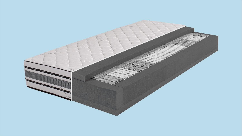 7 zonen micropocket taschenfedern matratze dormispring t600 xxl 90x200. Black Bedroom Furniture Sets. Home Design Ideas