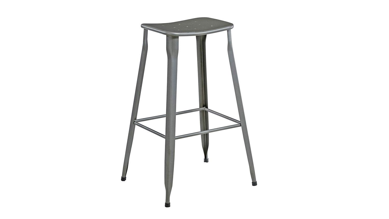 Astounding Barhocker Grau Metall 2Er Set Modern Industrial Design Unemploymentrelief Wooden Chair Designs For Living Room Unemploymentrelieforg