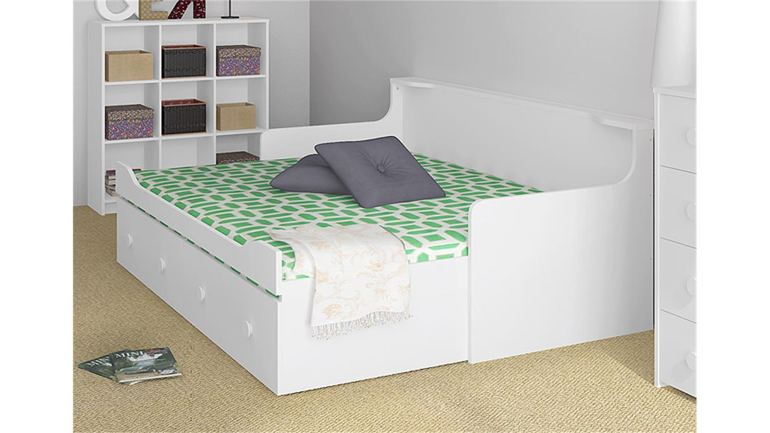 einzelbett mit ausziehbett flexa white mdf einzelbett mit ausziehbett yvonne biondi baby center. Black Bedroom Furniture Sets. Home Design Ideas