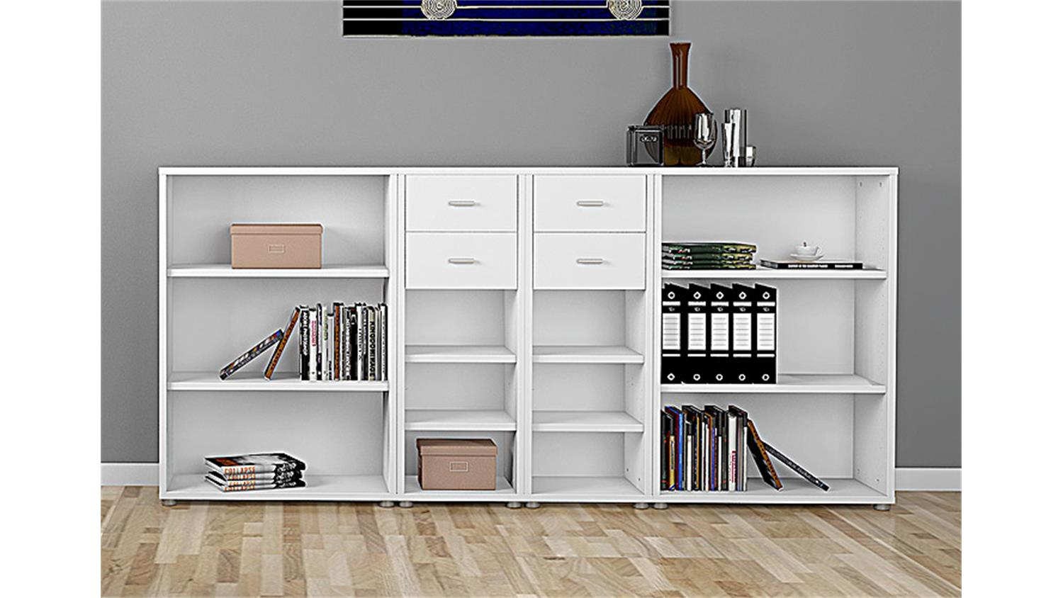 regalkombi 2 bocca b cherregal regal sideboard in wei. Black Bedroom Furniture Sets. Home Design Ideas