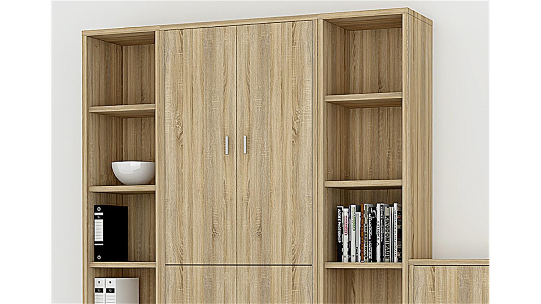 regalwand bocca regal b ro b roregal in eiche struktur dekor. Black Bedroom Furniture Sets. Home Design Ideas