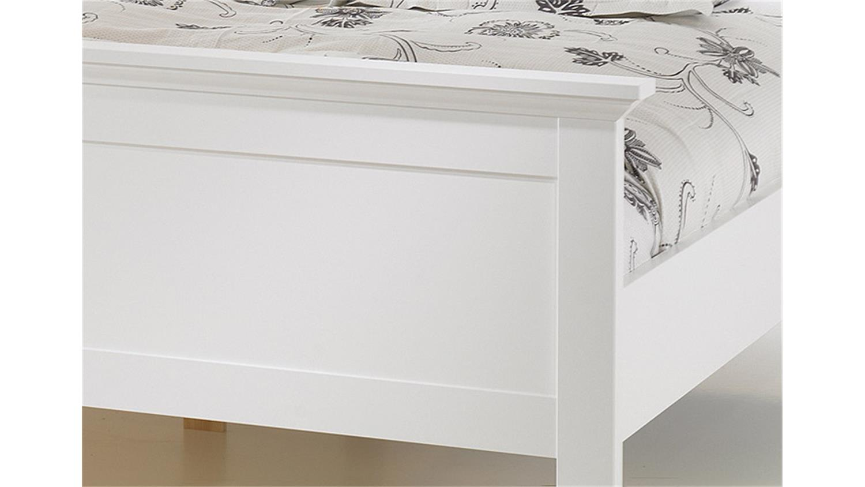 Bett PARIS Doppelbett in weiß Dekor 180x200 cm Landhausstil