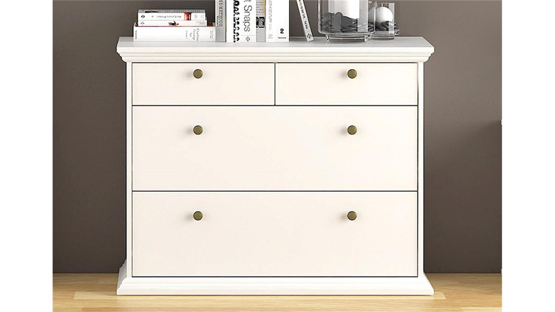 kommode 2 paris hochkommode in wei dekor landhausstil. Black Bedroom Furniture Sets. Home Design Ideas