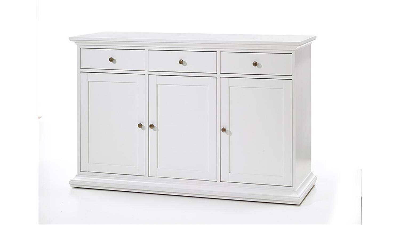 sideboard 2 paris kommode in wei dekor landhausstil 3 t rig. Black Bedroom Furniture Sets. Home Design Ideas