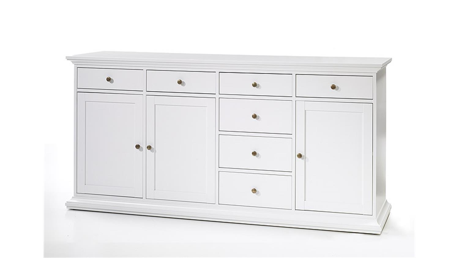 Sideboard 3 Paris Kommode In Weiss Dekor Landhausstil 3 Turig