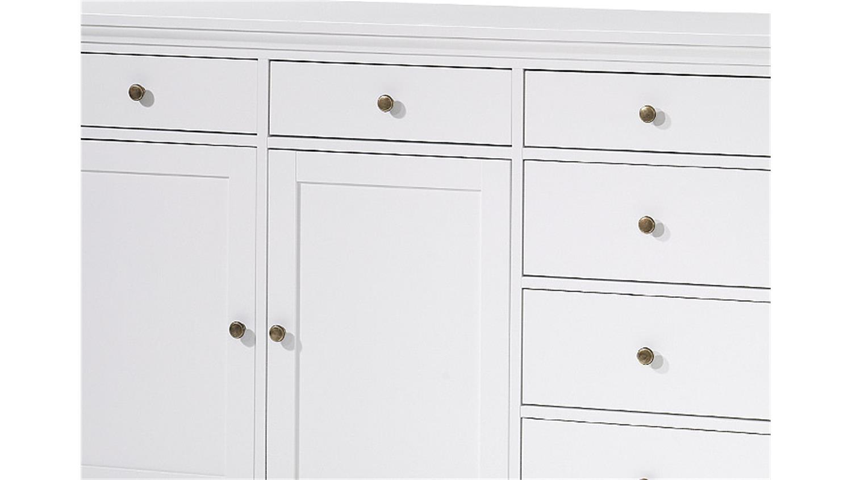 sideboard 3 paris kommode in wei dekor landhausstil 3 t rig. Black Bedroom Furniture Sets. Home Design Ideas