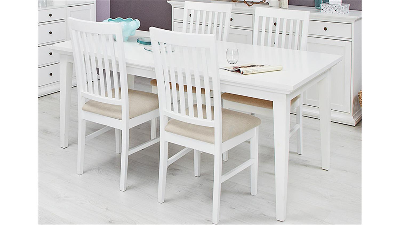 paris tisch stuhl buffet sideboard 7 teilig weiß, Esszimmer dekoo