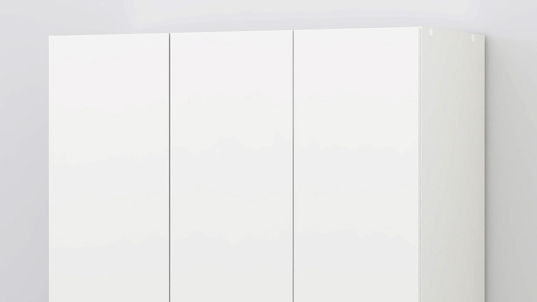 kleiderschrank suros wei 3 t ren 3 schubk sten h he 200. Black Bedroom Furniture Sets. Home Design Ideas