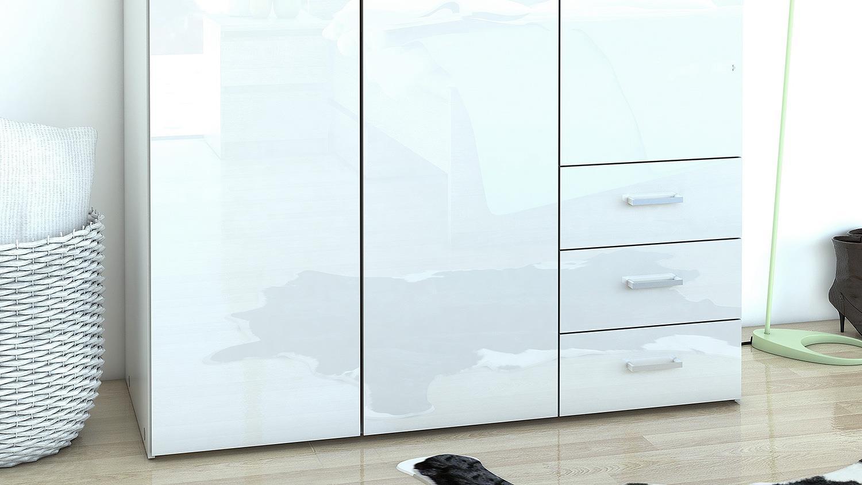 kleiderschrank suros wei hg 3 t ren 3 schubk sten h he 200. Black Bedroom Furniture Sets. Home Design Ideas
