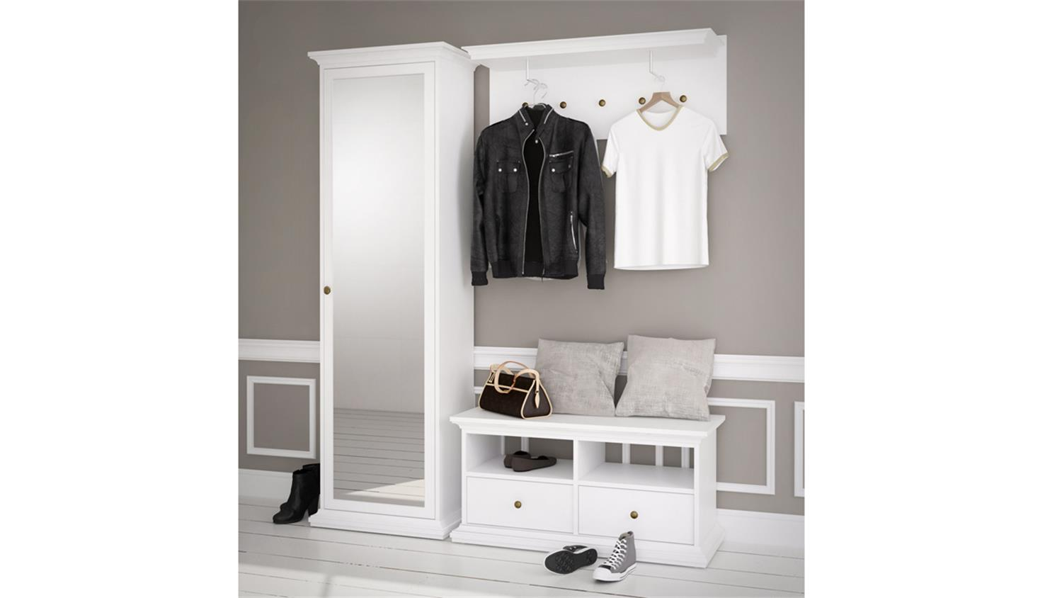 garderobe wei landhaus garderobe wei landhausstil my. Black Bedroom Furniture Sets. Home Design Ideas