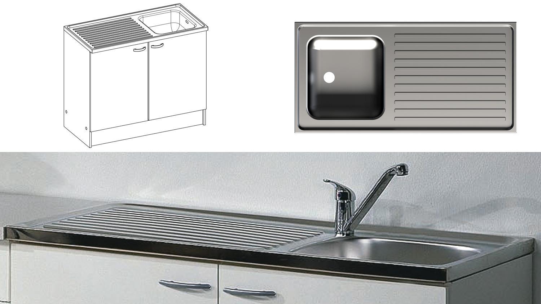 CASSY 45513 in weiß mit Spülbecken Küche
