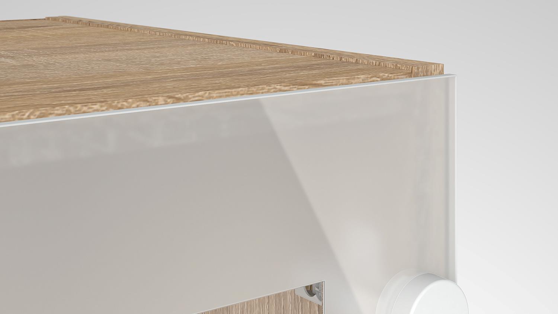 oberschrank cassy schrank 45518 eiche struktur glas k che. Black Bedroom Furniture Sets. Home Design Ideas