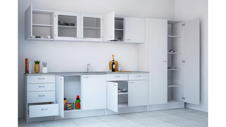oberschrank cassy schrank 45518 wei glas k che. Black Bedroom Furniture Sets. Home Design Ideas