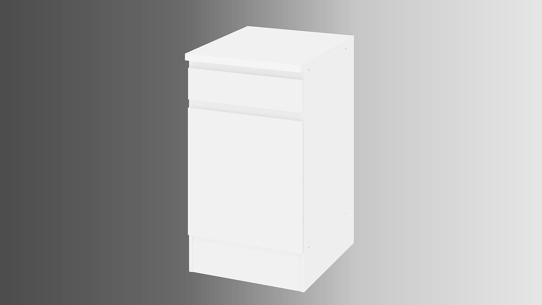 ikuu 83417 aufbewahrungsschrank in weiß küche