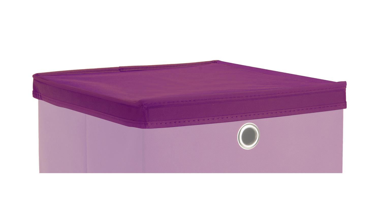 faltbox kubus set mit deckel regalkorb lila raumteiler. Black Bedroom Furniture Sets. Home Design Ideas