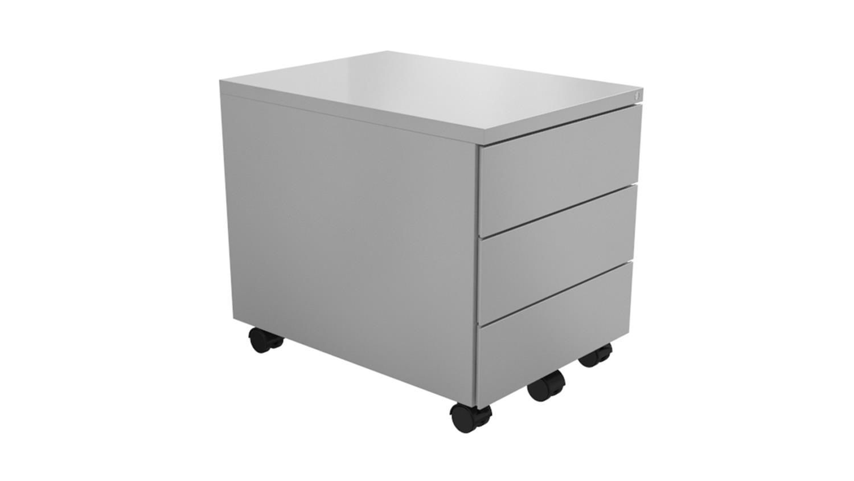 rollcontainer z line metall b roschrank wei 3 schubk sten abschlie bar. Black Bedroom Furniture Sets. Home Design Ideas