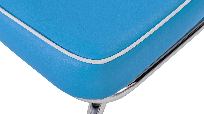 ELVIS 2er Set Stuhl blau Chrom 50er Jahre American Diner