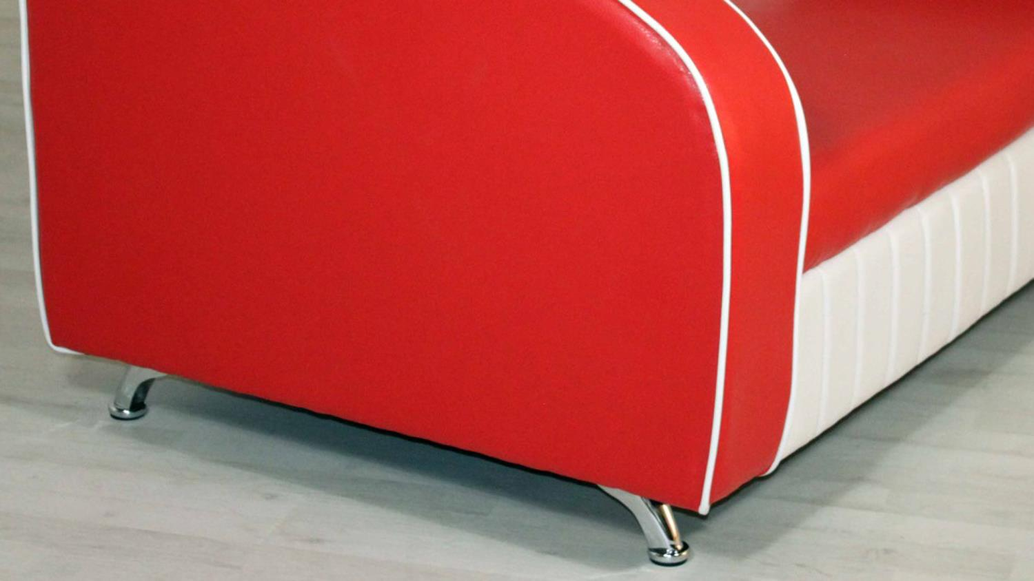 Sofabank Elvis Polstersofa In Rot Weiss American Diner 50er Jahre