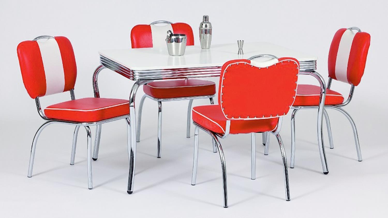 Essgruppe ELVIS 1 Tischgruppe American Diner 50er Jahre rot