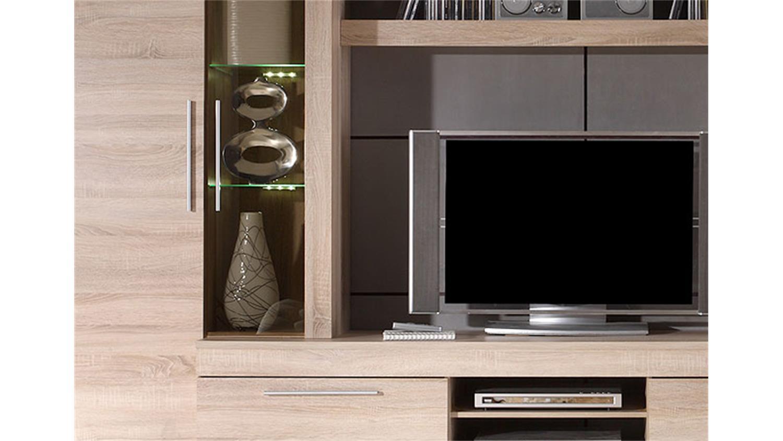 Hffner Wohnzimmerlampen Wohnwand Sonoma Eiche Hell Beste Home Design Inspiration