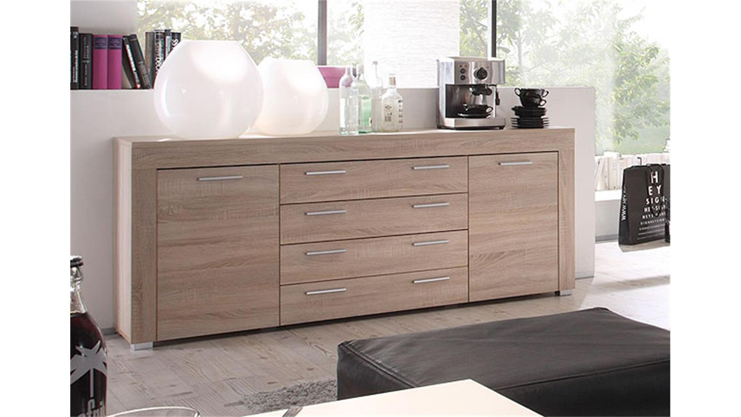 sideboard holz hell. Black Bedroom Furniture Sets. Home Design Ideas