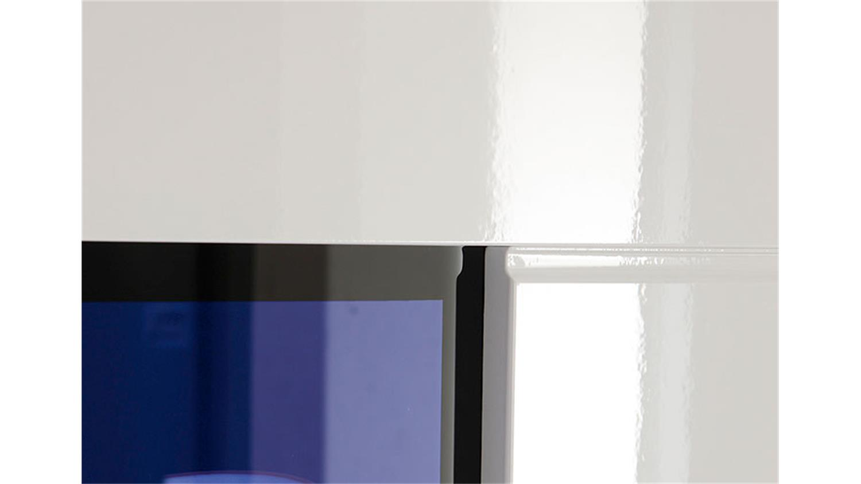 highboard skin wei hochglanz mit led beleuchtung. Black Bedroom Furniture Sets. Home Design Ideas