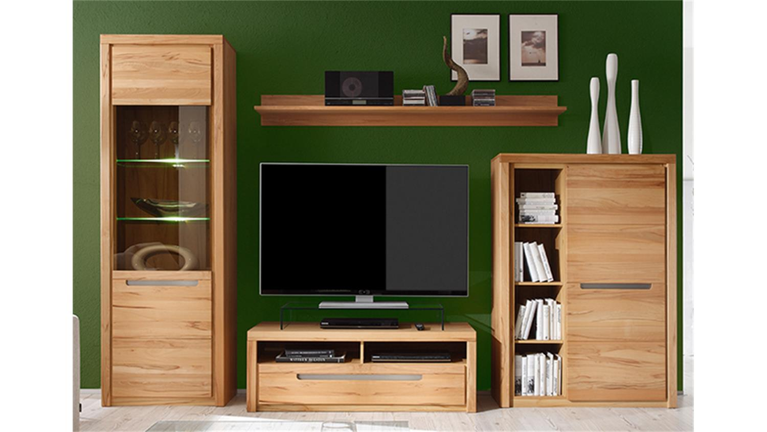 vitrine zino kern buche massiv lamellen inkl beleuchtung. Black Bedroom Furniture Sets. Home Design Ideas