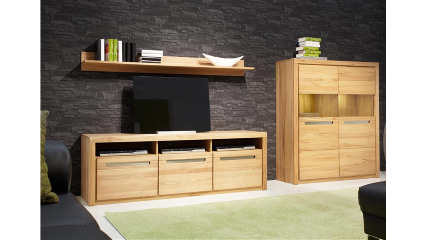 tv board zino kern buche massiv lamellen. Black Bedroom Furniture Sets. Home Design Ideas
