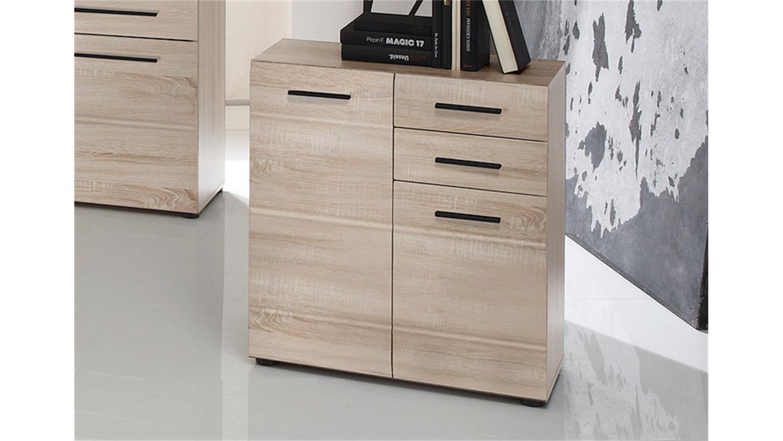 kommode skin 4 schrank stauraumelement in eiche s gerau. Black Bedroom Furniture Sets. Home Design Ideas