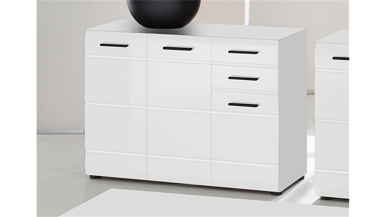 kommode skin 5 sideboard schrank 3 t rig wei hochglanz. Black Bedroom Furniture Sets. Home Design Ideas