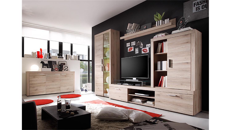 sideboard havanna kommode anrichte in san remo eiche hell. Black Bedroom Furniture Sets. Home Design Ideas