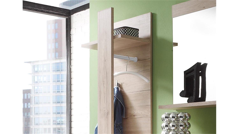 garderobenpaneel campus san remo eiche und wei. Black Bedroom Furniture Sets. Home Design Ideas