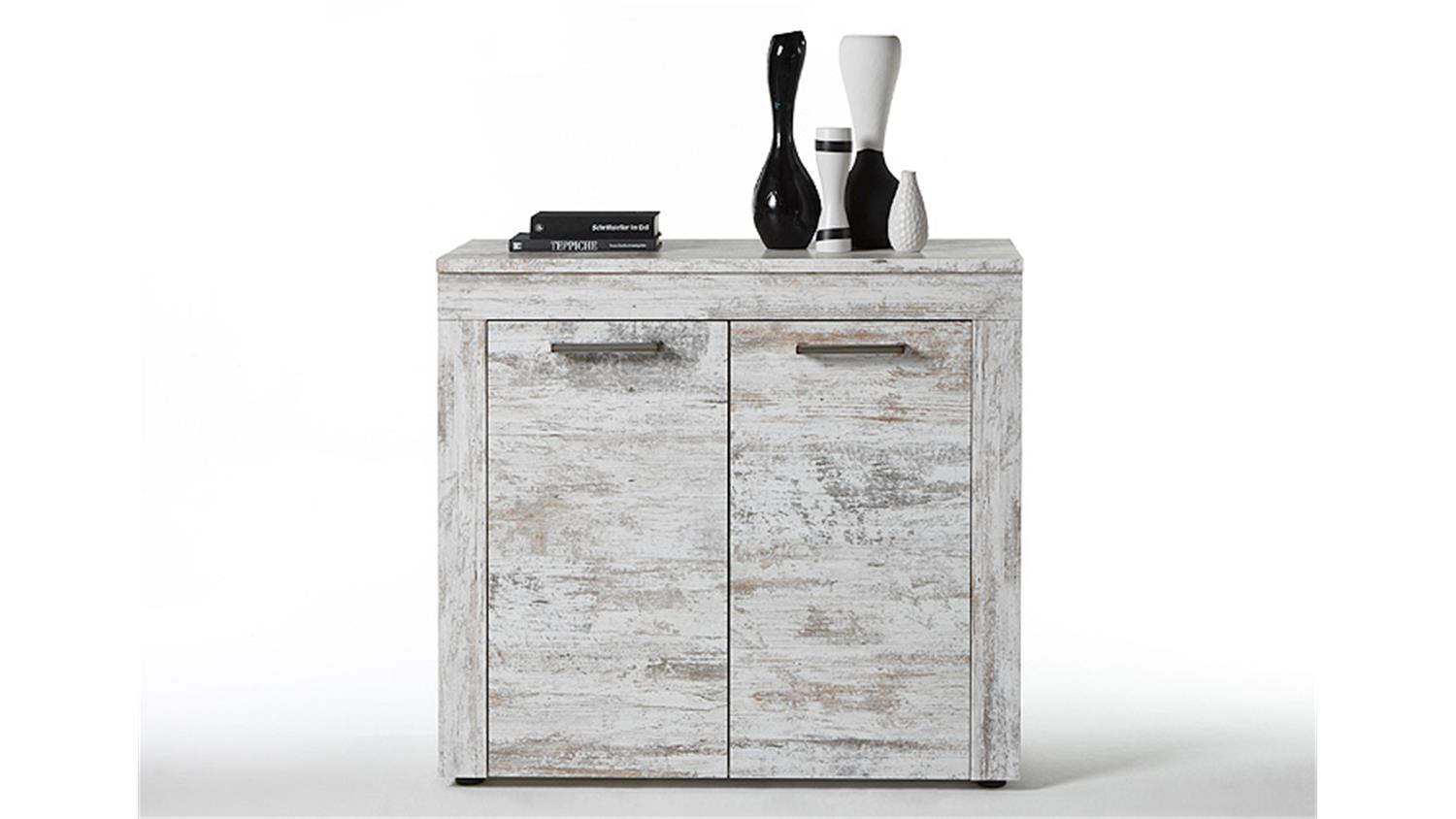 kommode river 1 canyon white pinie shabby vintage look. Black Bedroom Furniture Sets. Home Design Ideas
