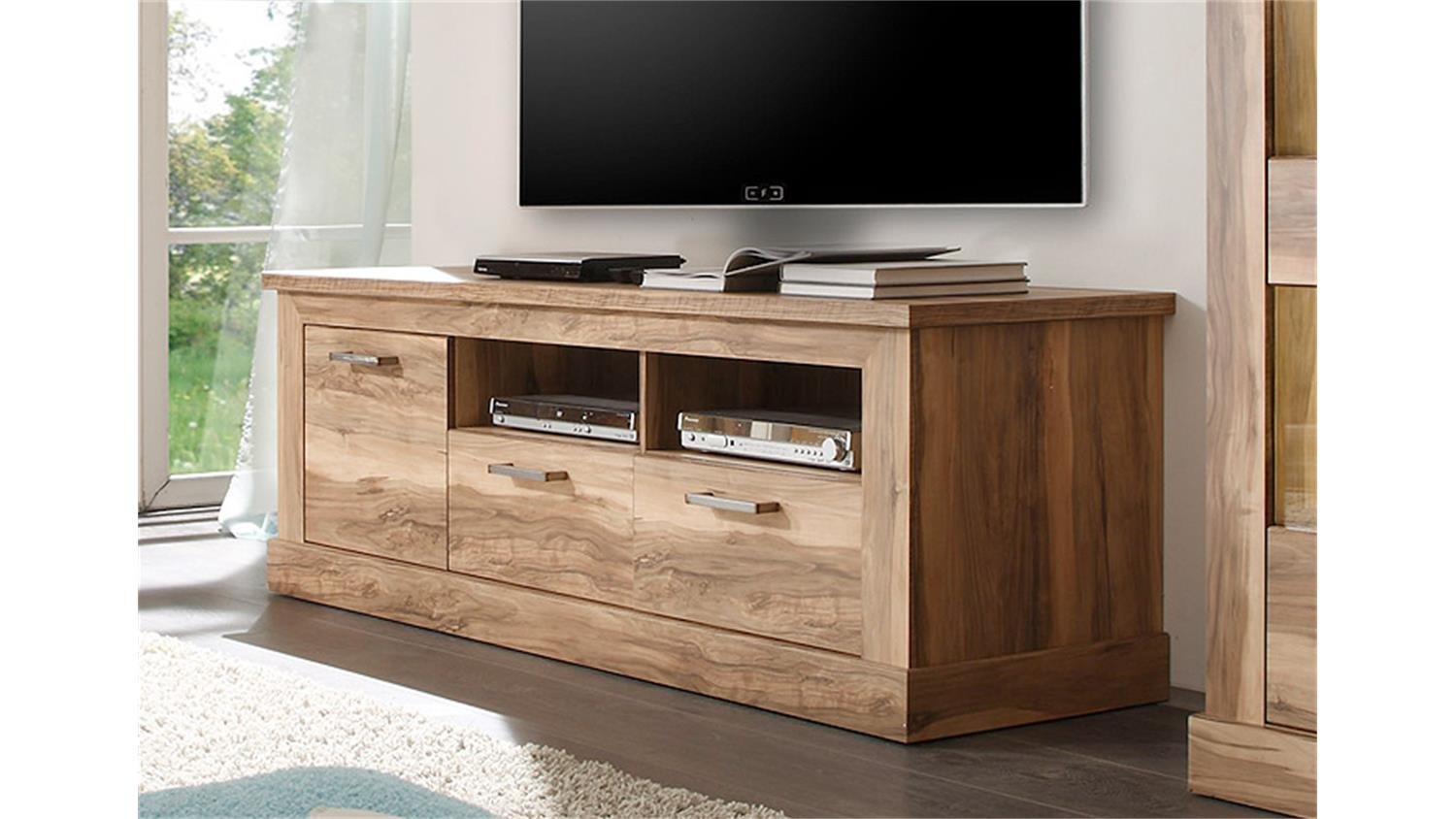 tv board 1 montreal lowboard tv unterteil in nussbaum satin. Black Bedroom Furniture Sets. Home Design Ideas