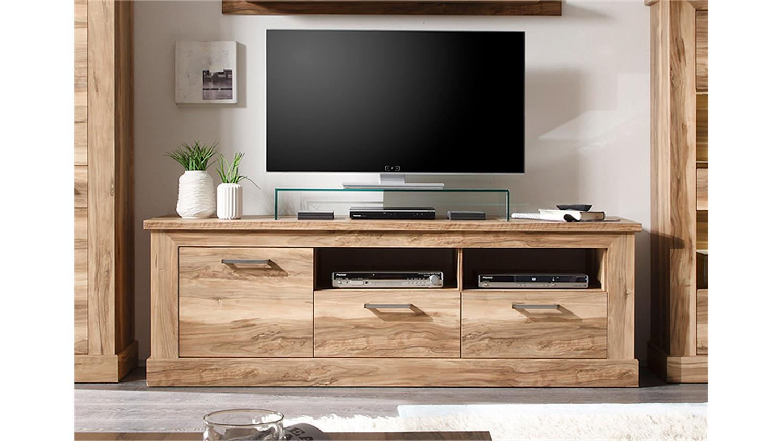 tv board 1 montreal lowboard tv unterteil in nussbaum satin. Black Bedroom Furniture Sets. Home Design Ideas