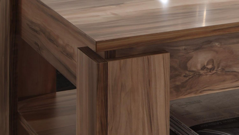 couchtisch universal beistelltisch in satin nussbaum. Black Bedroom Furniture Sets. Home Design Ideas