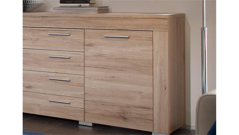 sideboard boom sanremo eiche hell 2 t rig 4 schubk sten. Black Bedroom Furniture Sets. Home Design Ideas
